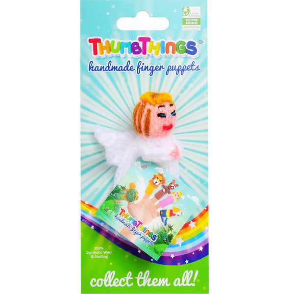 Christmas Angel Finger Puppet by thumbthings finger puppets
