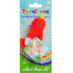 Cockatoo Finger Puppet by ThumbThings Handmade Finger Puppets