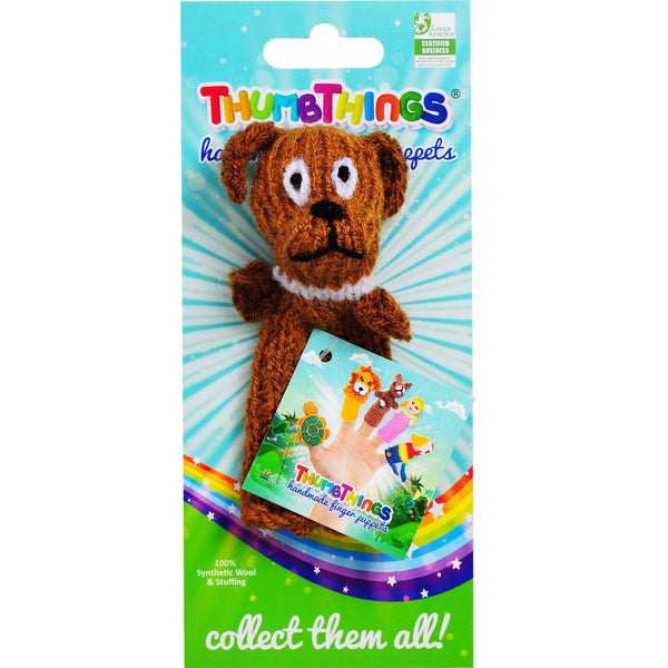 Thumbthings brown dog finger puppet