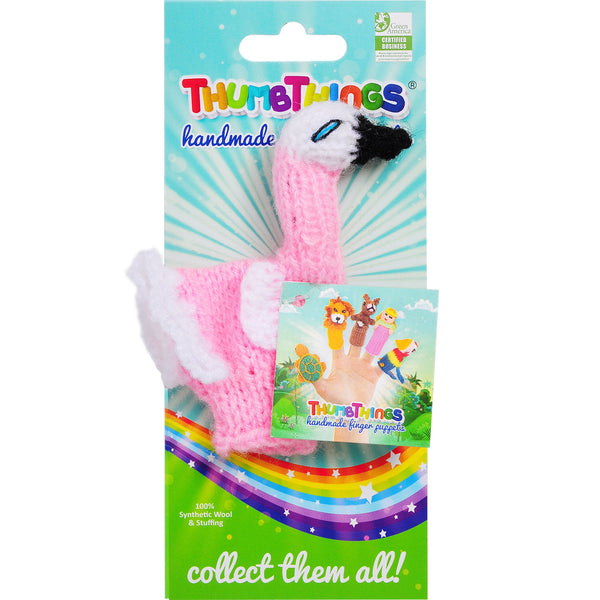 Thumbthings Pink Flamingo Finger Puppet