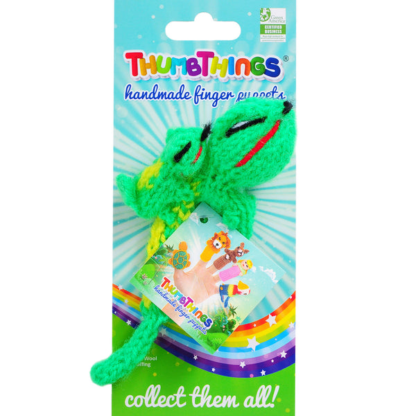 Thumbthings Gecko with Baby Finger Puppet