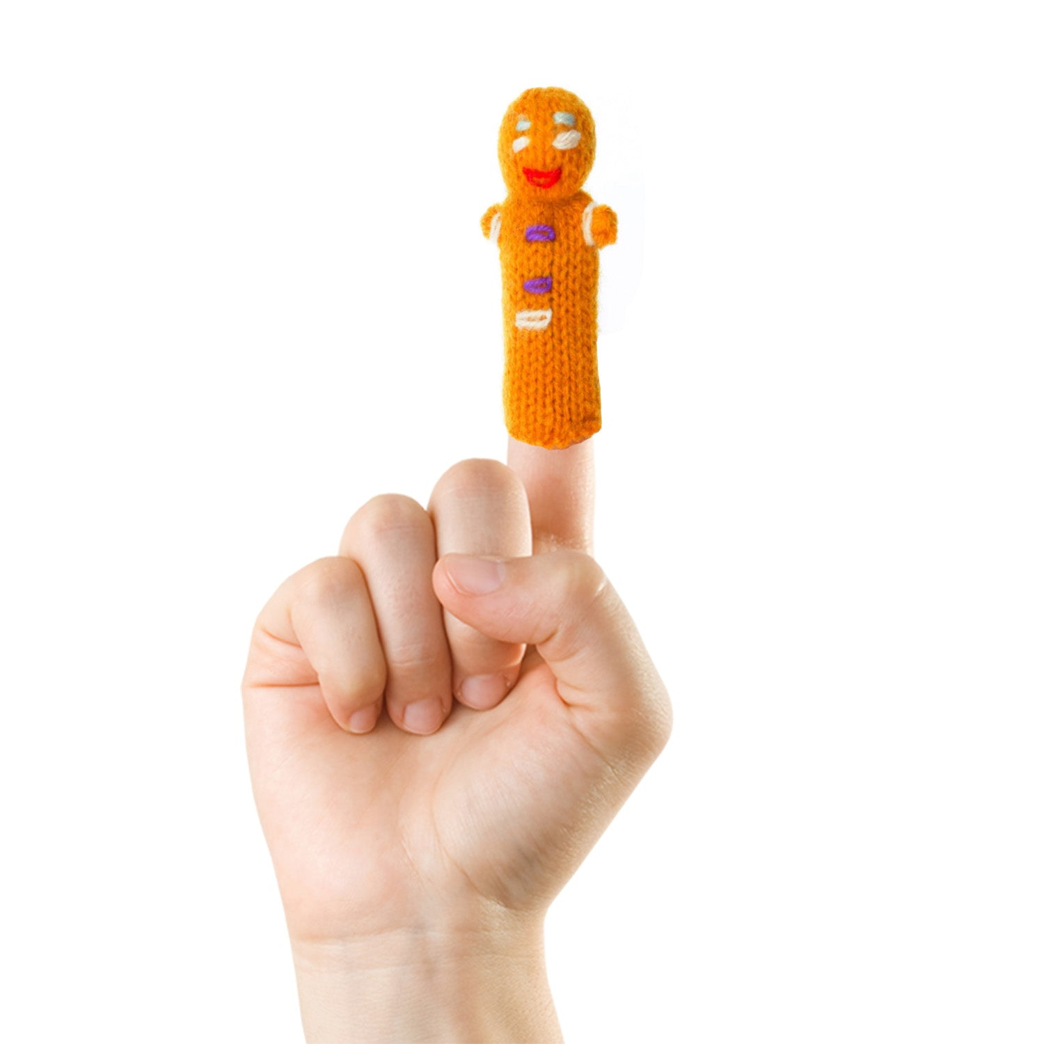 gingerbread man finger puppet by thumbthings handmade finger puppets