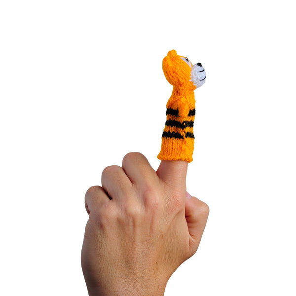 Happy Tiger Finger Puppet