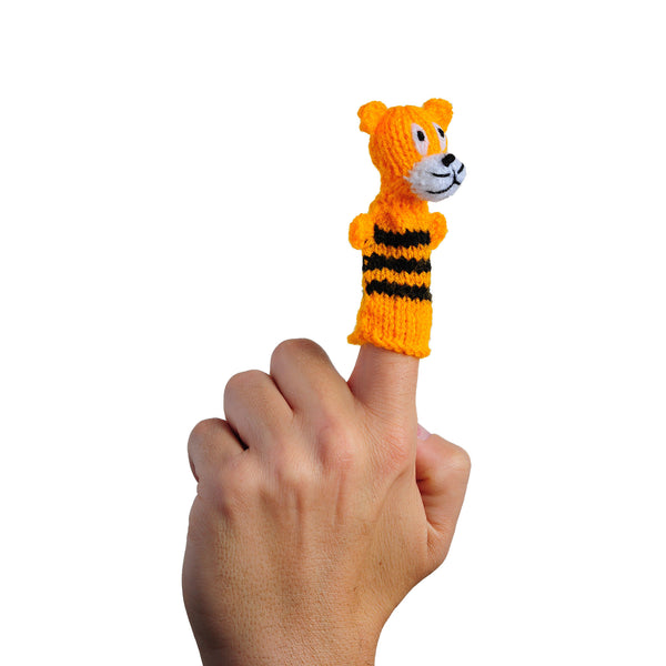 Thumbthings happy tiger finger puppet