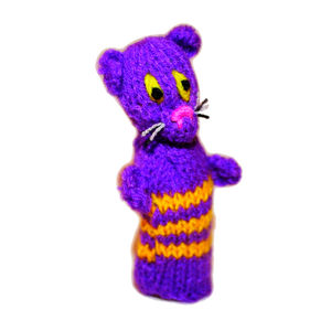 cheshire cat finger puppet