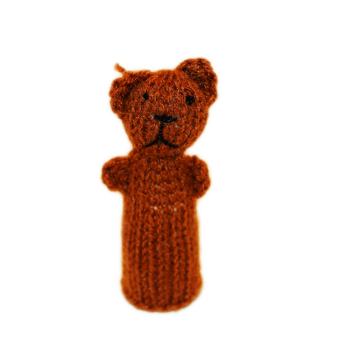 Cuddly Brown Bear Finger Puppet
