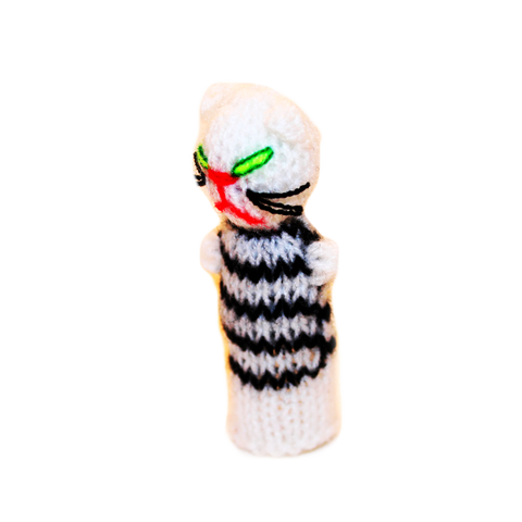 white cat finger puppet