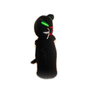 black cat finger puppet