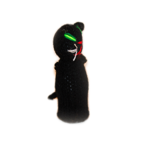 Black Kitten Finger Puppet