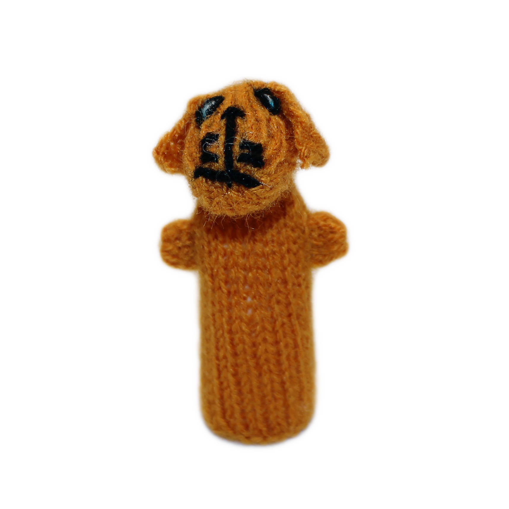 golden retriever finger puppet