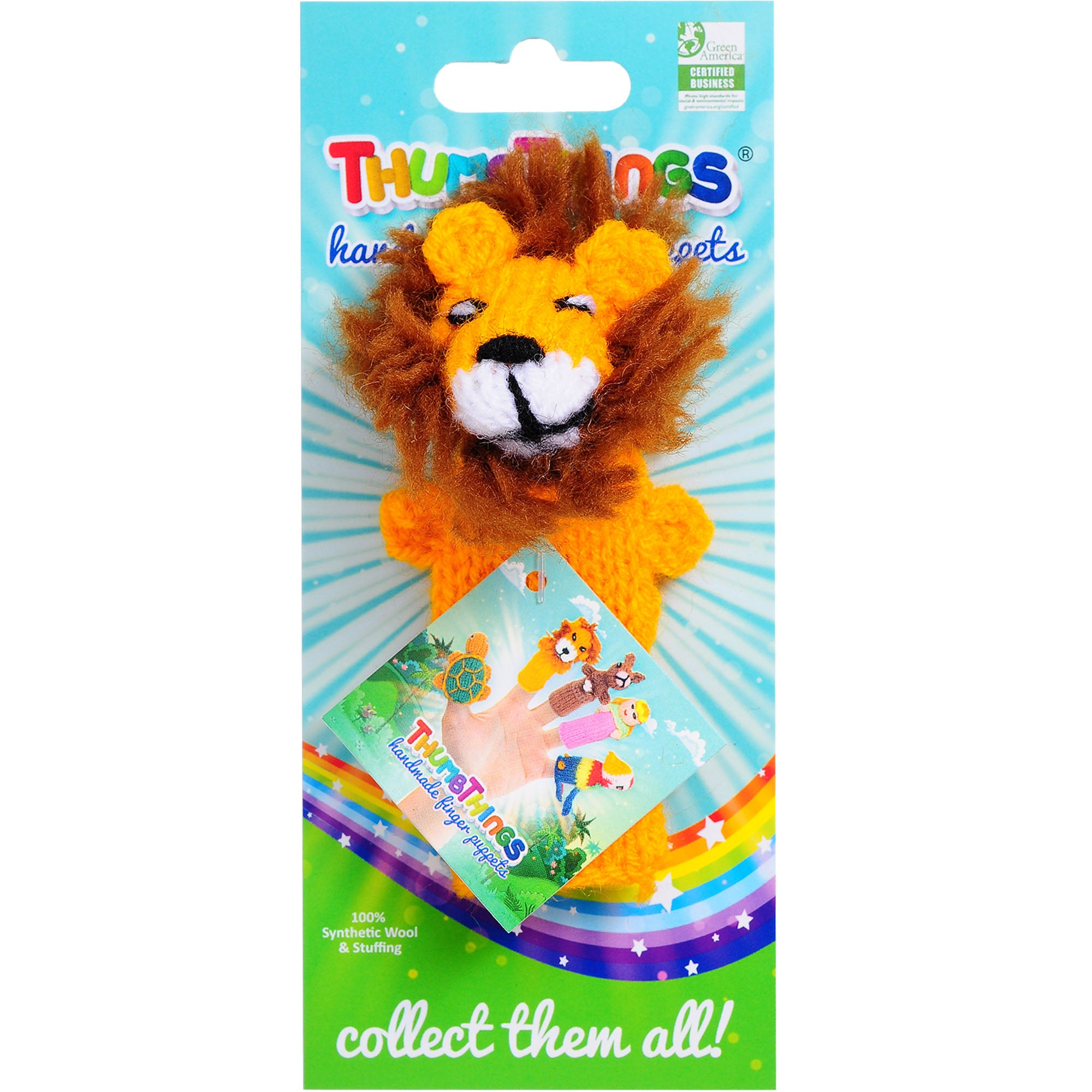 lion finger puppet by thumbthings handmade finger puppets