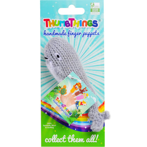 Thumbthings Gray Whale Finger Puppet