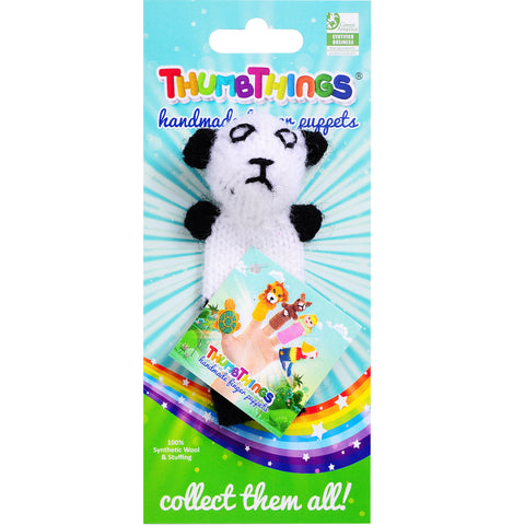 panda finger puppet by thumbthings finger puppets