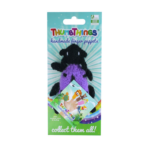 purple jewel beetle finger puppet by thumbthings handmade finger puppets