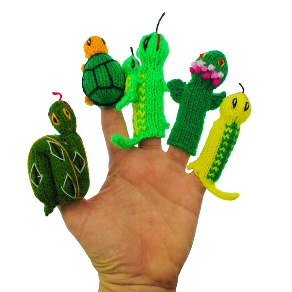 finger puppets in action