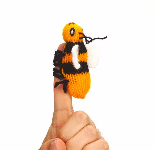 wasp finger puppet