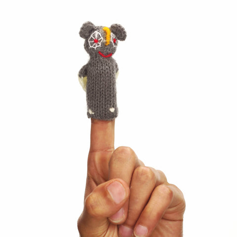 wise old owl finger puppet