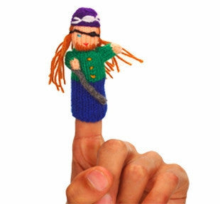 treasure island finger puppet