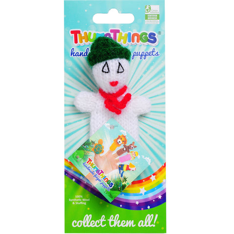Thumbthings Snowman Finger Puppet (green hat)
