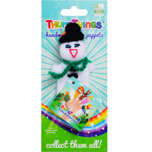 Thumbthings Snowman Finger Puppet (green scarf)