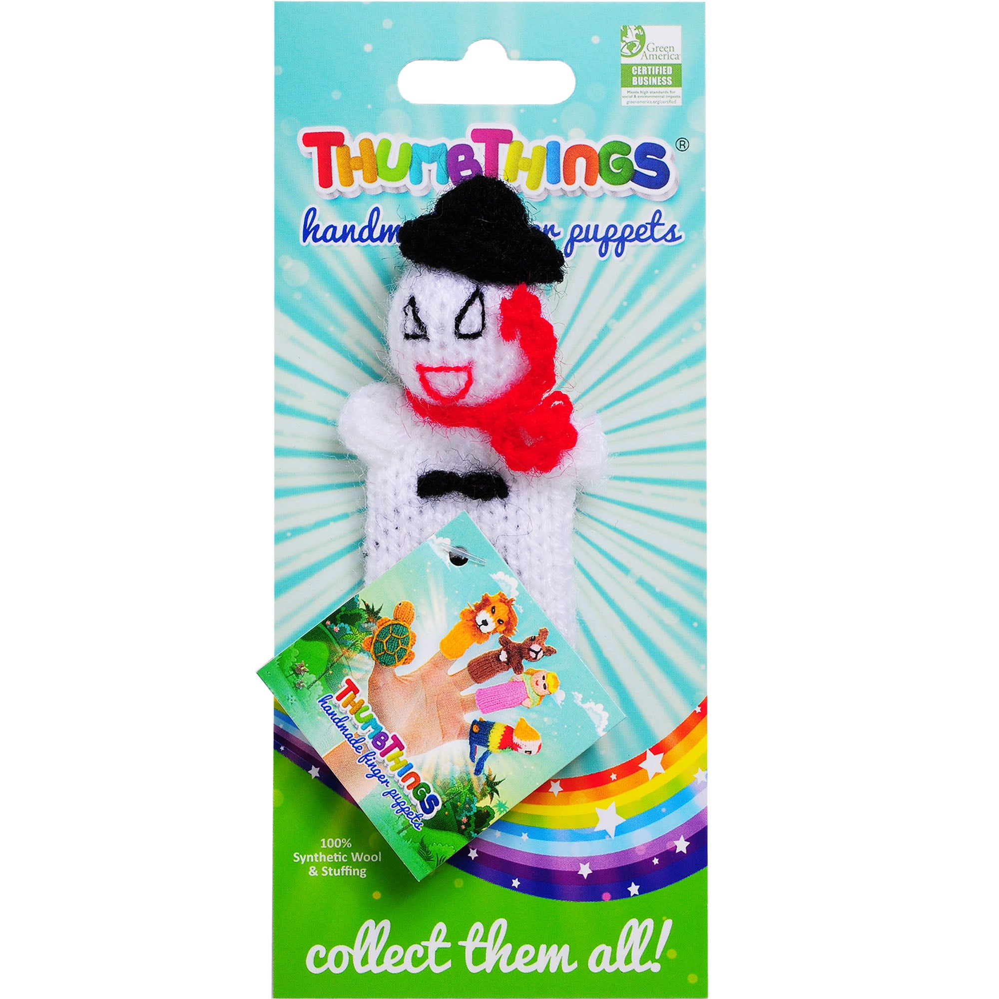 Thumbthings Snowman with a Red Scarf Finger Puppet