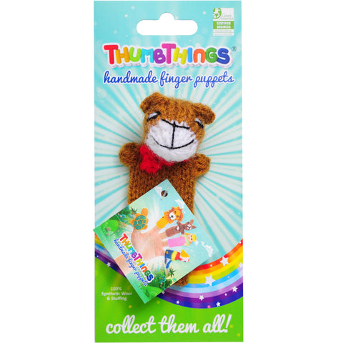 teddy bear finger puppet by thumbthings finger puppets
