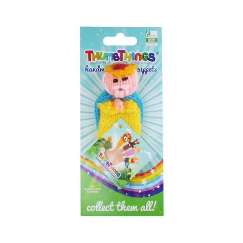 the king finger puppet nby thumbthings handmade finger puppets