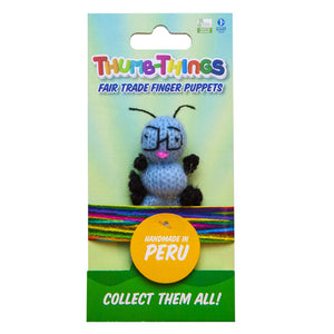 ThumbThings Finger Puppets Toys eco-friendly, sustainably made, Bookworm finger puppet has been handcrafted.