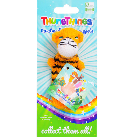 tiger finger puppet by thumbthings finger puppets