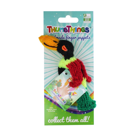 toucan finger puppet by thumbthings handmade finger puppets