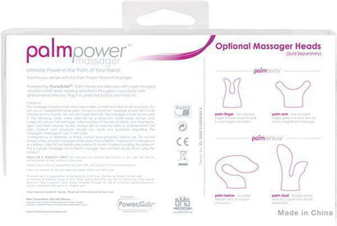 Image of PalmPower Personal Massager Wand Vibrator, Fuchsia