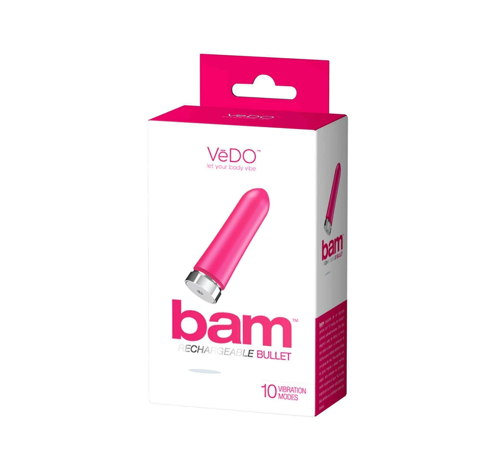 Bam Rechargeable Bullet - Hot in Bed Pink VI-F0309