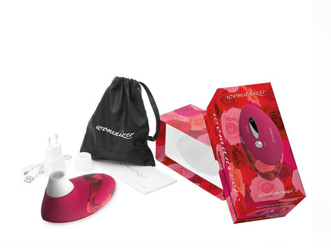 Womanizer Deluxe W500 Clit Stimulator, Vibrator - Red Roses