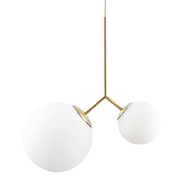 "Lampe Suspension  ""Opal Twice"" - DELAMAISON.FR"
