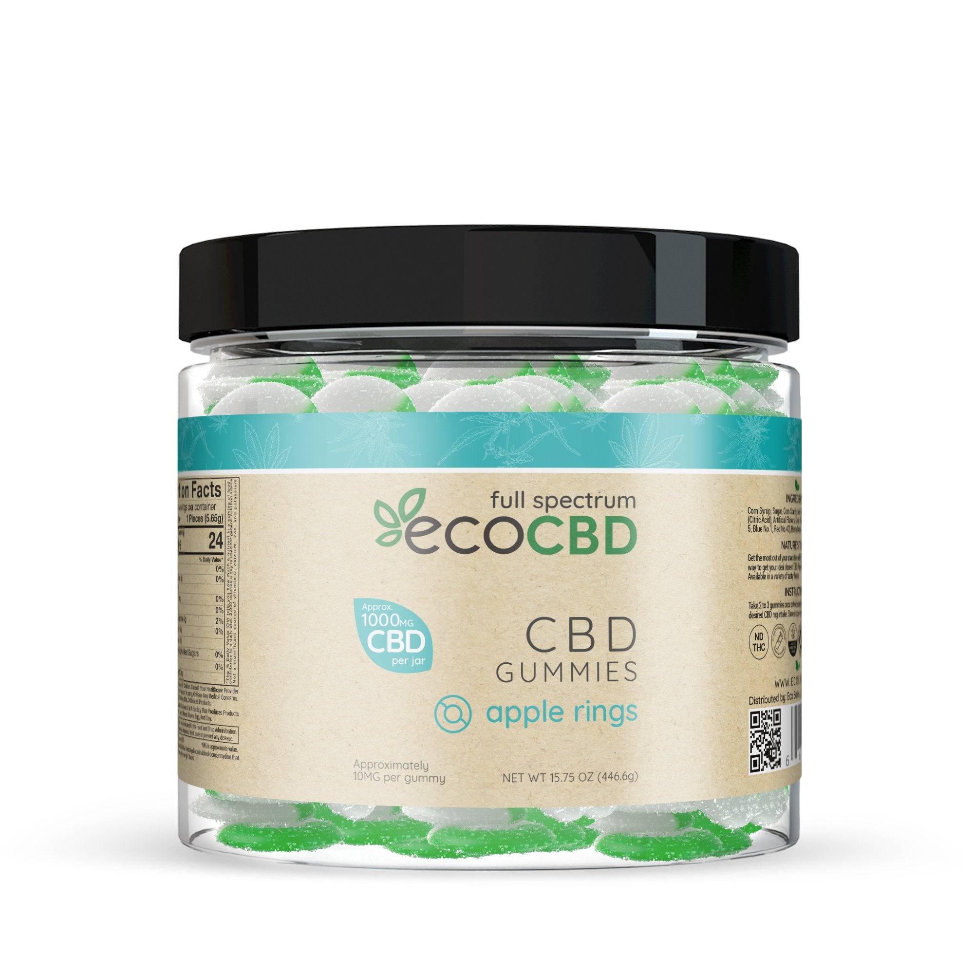 Eco CBD - Full Spectrum CBD Apple Rings Gummies - 1000mg