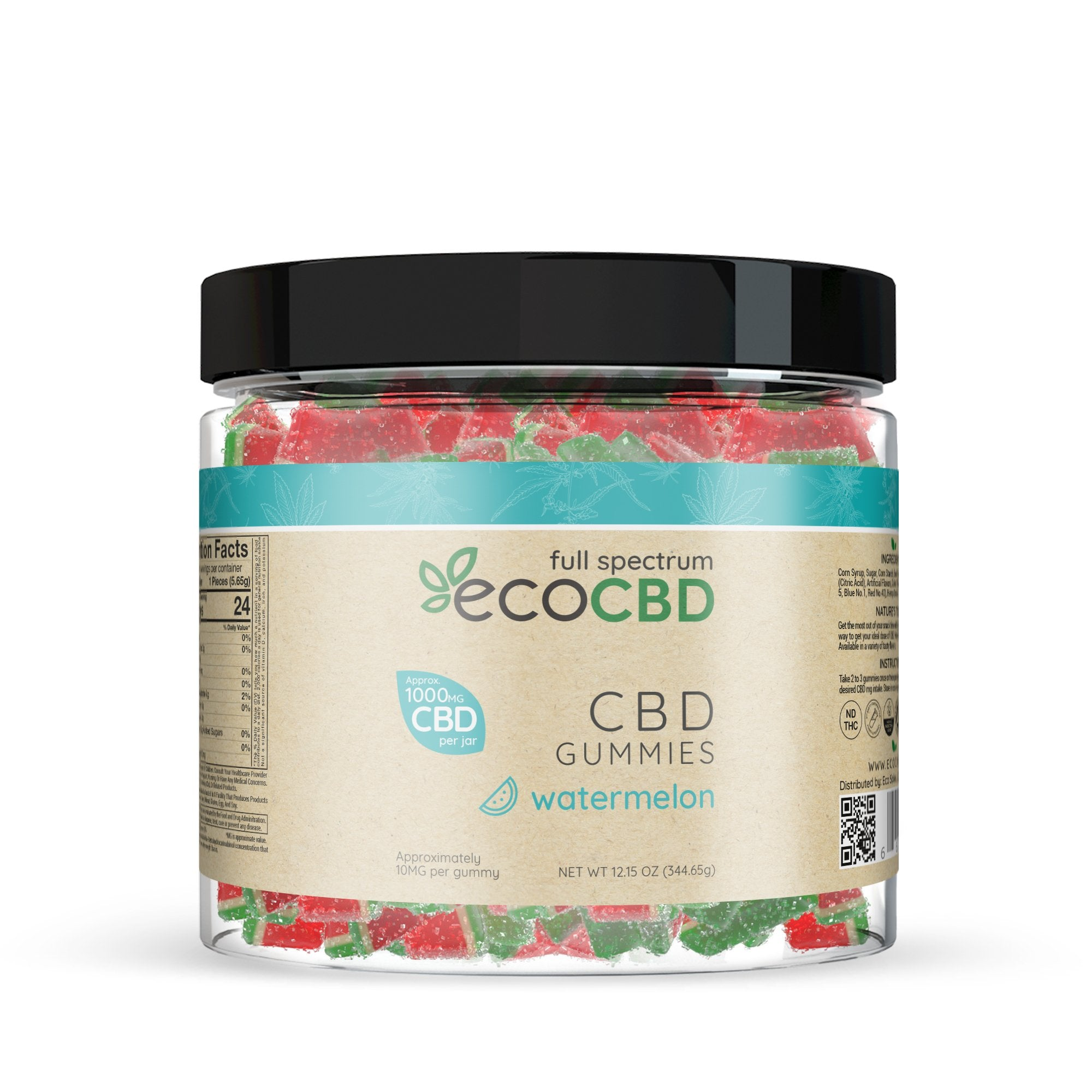 Eco CBD - Full Spectrum CBD Watermelon Slices - 1000mg