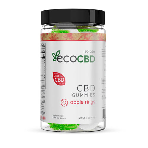 Eco CBD - CBD Isolate Apple Rings Gummies - 2000mg