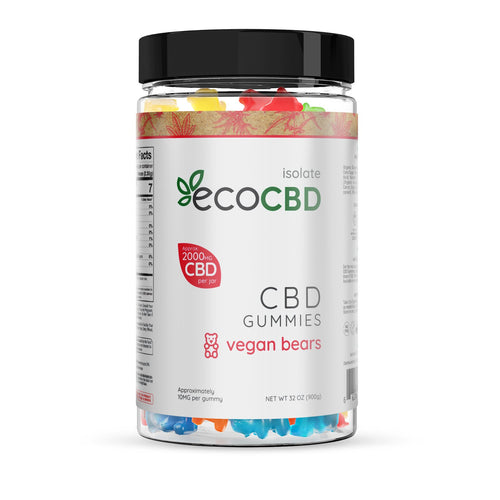 Eco CBD - CBD Isolate Vegan Gummy Bears - 2000mg