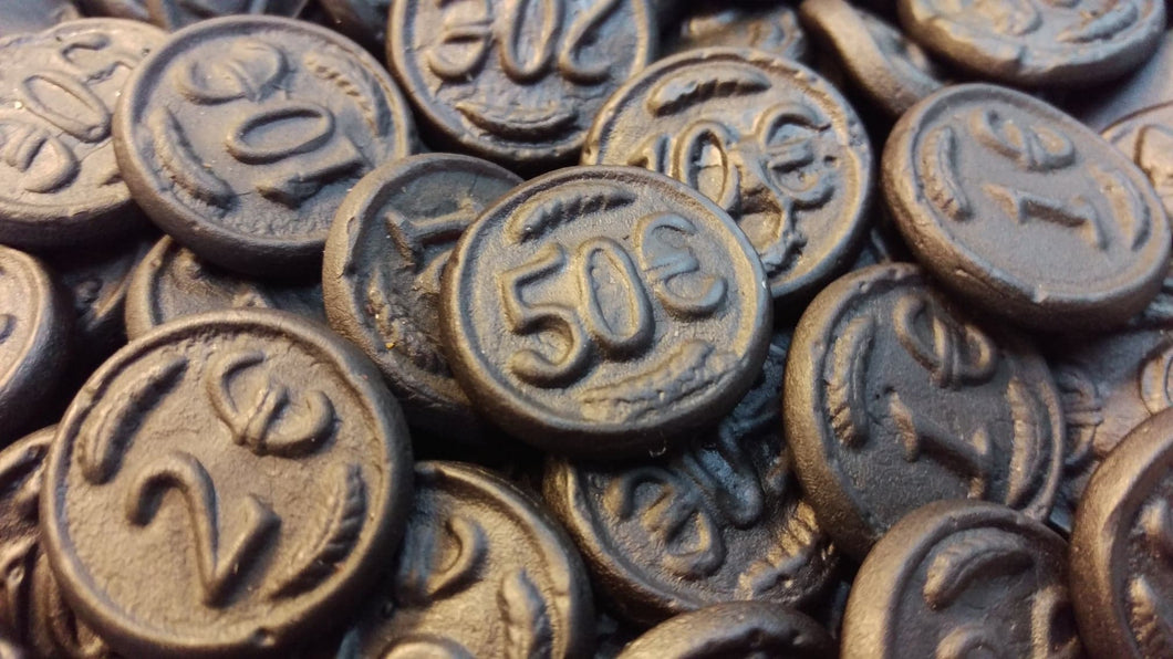 Dutch Liquorice Black Coins 100g