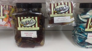 Giant Cola Bottles 100g