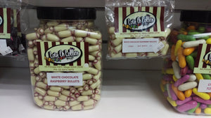 White Chocolate Raspberry Bullets 100g