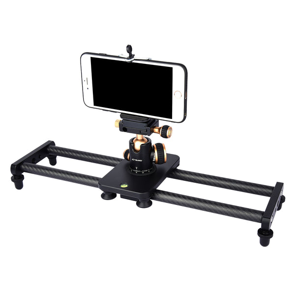 YELANGU 40cm//16 Professional Handheld Carbon Fiber Stabilizer for iPhone DSLR Video Camera Nikon Canon Sony