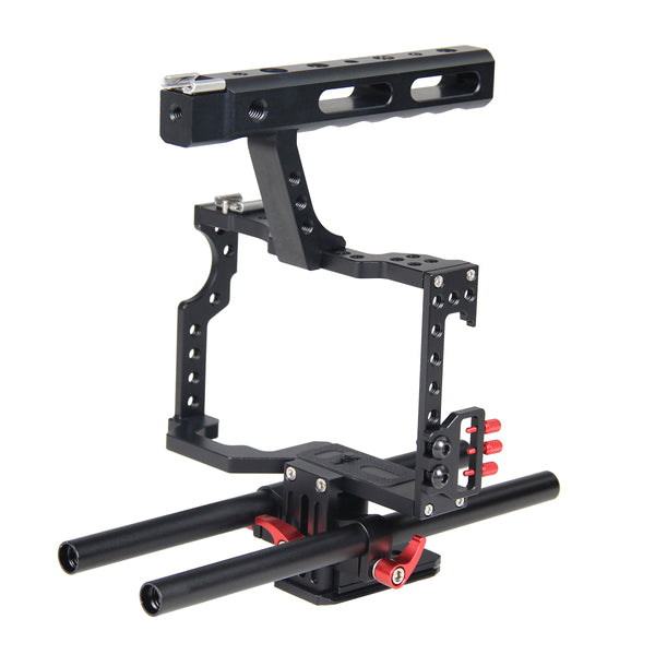 Yelangu C5 Aluminum Alloy Camera Cage for GH4/A7 and More Mirrorless Camera