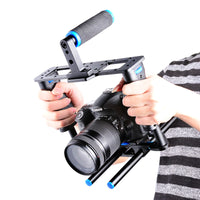 Yelangu C2 Aluminum Alloy Camera Video Cage Film Movie Making Kit Top Handle and Grip Handle