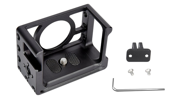 "Yelangu C10 Metal Cage for Sony RX0 II/RX0 with Cold Shoe Quick Release Fixation 1/4"" Tripod Mount"