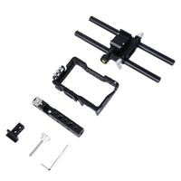 Yelangu C6 Cage Kit for Sony a6000 a6100 a6300 a6400 a6500 NEX7 Camera with Cage, Handle,HDMI cable clamp