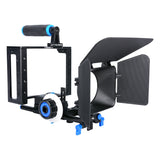 Yelangu C100 Universal Camera cage with follow focus and matte box for dslr mirrorless