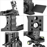 Yelangu C14 Camera Cage for Canon EOS M50 and M5 with Integrated Grip and Quick Release NATO Rail