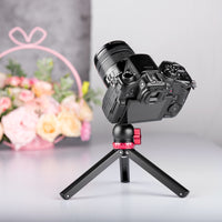 Yelangu T1 Mini Desktop Travel Tripod Aluminum with 360 Degree Ball Head for  Cameras and Phone