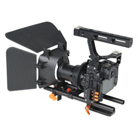 YELANGU C500 DSLR Video Camera Cage Kit With Follow Focus Matte Box, Support for Mirrorless Camera